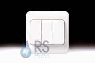 Schneider Lisse White Light Switch Wide Rocker 3Gang 2Way GGBL1032W