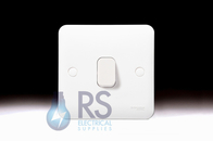 Schneider Lisse White Retractive Switch 1Gang 2Way GGBL1012R