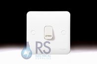 Schneider Lisse White Retractive Switch PRESS 1Gang 2Way GGBL1012RP