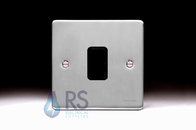 Schneider Low Profile 1 Gang Grid Plate Brushed Chrome GUGL01BC