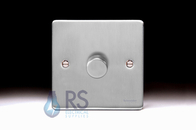 Schneider Low Profile 1g Dimmer Brushed Chrome GU6512CBC