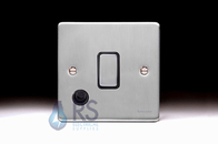 Schneider Low Profile 20A DP Switch Flex Outlet Brushed Chrome GU2513BBC
