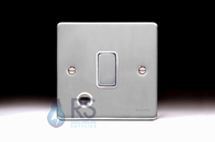 Schneider Low Profile 20A DP Switch Flex Outlet Brushed Chrome GU2513WBC