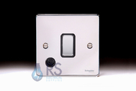 Schneider Low Profile 20A DP Switch Flex Outlet Polished Chrome GU2513BPC