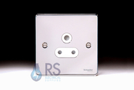 Schneider Low Profile 5A Single Socket Polished Chrome GU3580WPC