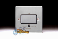 Schneider Low Profile Fan Isolator Switch Brushed Chrome GU1513BBC