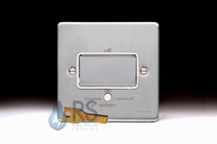 Schneider Low Profile Fan Isolator Switch Brushed Chrome GU1513WBC