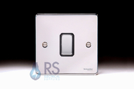 Schneider Low Profile Intermediate Light Switch Polished Chrome GU1514BPC
