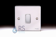 Schneider Low Profile Intermediate Light Switch Polished Chrome GU1514WPC