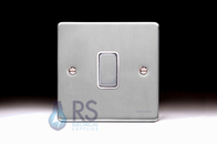 Schneider Low Profile Light Switch Brushed Chrome GU1512WBC