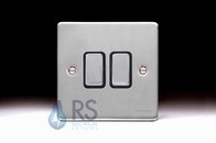 Schneider Low Profile Light Switch Brushed Chrome GU1522BBC