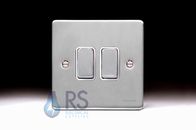 Schneider Low Profile Light Switch Brushed Chrome GU1522WBC