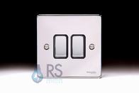 Schneider Low Profile Light Switch Polished Chrome GU1522BPC