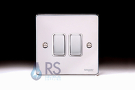 Schneider Low Profile Light Switch Polished Chrome GU1522WPC