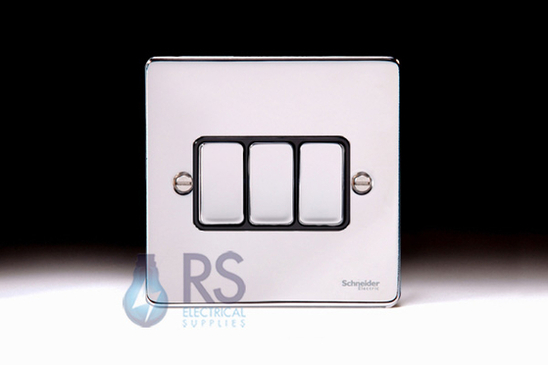 Schneider Low Profile Light Switch Polished Chrome GU1532BPC