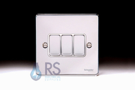 Schneider Low Profile Light Switch Polished Chrome GU1532WPC