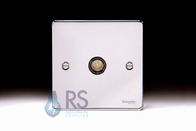 Schneider Low Profile TV Socket Polished Chrome GU7510MBPC