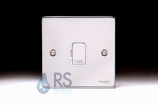 Schneider Low Profile Unswitched Spur Polished Chrome GU5500WPC