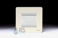Schneider Screwless Brush Cable Outlet Wall Plate Pearl Nickel GU8460PNBRW