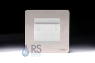 Schneider Screwless Brush Cable Outlet Wall Plate Stainless Steel GU8460SSBRW