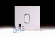 Schneider Screwless Flat Plate 20A DP Switch Polished Chrome Flex Outlet GU2413WPC