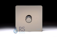 Schneider Screwless Flat Plate Black Nickel Rotary Dimmer 1G 2W 400W GU6412CBN