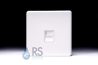 Schneider Screwless Flat Plate BT Slave Socket Gloss White GU7462WWH