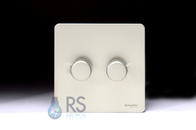 Schneider Screwless Flat Plate Dimmer Switch 2G Pearl Nickel GU6422CPN