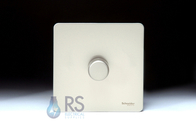 Schneider Screwless Flat Plate Dimmer Switch Pearl Nickel GU6412CPN