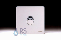 Schneider Screwless Flat Plate Dimmer Switch Polished Chrome GU6412CPC