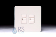 Schneider Screwless Flat Plate Electronic Dimmer Switch White Metal GU6422EWPW