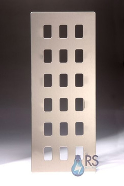 Schneider Ultimate Screwless Stainless Steel 18G Grid Plate GUGS18GSS