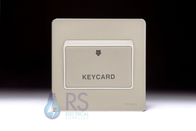 Schneider Screwless Flat Plate Key Card Switch Pearl Nickel GU1412KWPN