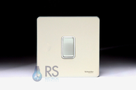 Schneider Screwless Flat Plate Light Switch Pearl Nickel GU1412WPN
