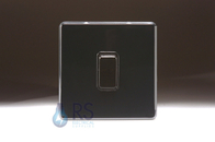 Schneider Screwless Flat Plate Light Switch Piano Black GU1412BBK