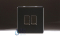 Schneider Screwless Flat Plate Light Switch Piano Black GU1422BBK