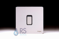 Schneider Screwless Flat Plate Light Switch Polished Chrome GU1412BPC