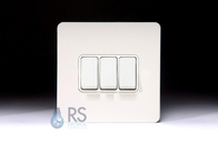 Schneider Screwless Flat Plate Light Switch White Metal GU1432WPW