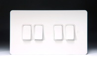 Schneider Screwless Flat Plate Light Switch White Metal GU1442WPW