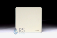 Schneider Screwless Flat Plate Pearl Nickel Single Blank Plate GU8410PN