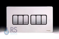 Schneider Screwless Flat Plate Light Switch Polished Chrome GU1462BPC
