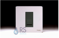 Schneider Screwless Flat Plate RJ11 Socket Polished Chrome GU7451MBPC