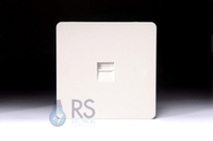 Schneider Screwless Flat Plate RJ45 Socket White Metal GU7471WPW