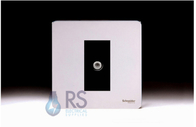 Schneider Screwless Flat Plate Satellite Socket Polished Chrome GU7430MBPC