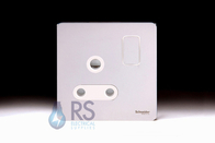 Schneider Screwless Flat Plate Single 15A Socket Polished Chrome GU3490WPC