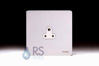Schneider Screwless Flat Plate Single 2A Socket Polished Chrome GU3470WPC