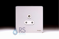 Schneider Screwless Flat Plate Single 5A Socket Polished Chrome GU3480WPC