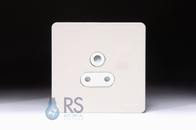 Schneider Screwless Flat Plate Single 5A Socket White Metal GU3480WPW