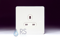 Schneider Screwless Flat Plate Single Socket White GU3450WPW