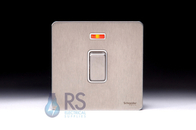 Schneider Screwless Flat Plate Stainless Steel 20A DP Switch Neon GU2411WSS
